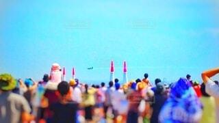 エアレースを観戦する人々の写真・画像素材[4884542]