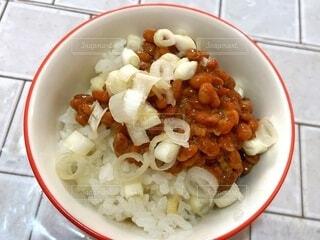 納豆ご飯の写真・画像素材[4918749]