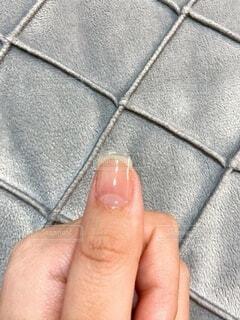長さだしをした親指の写真・画像素材[4925112]