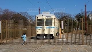 大好きな電車を眺める子供の写真・画像素材[4870842]