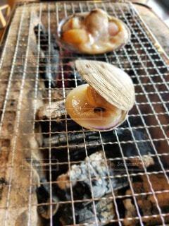 ハマグリの炭火焼の写真・画像素材[4880285]
