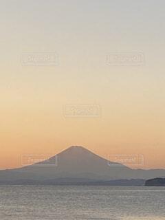 黄昏れ富士の写真・画像素材[4870395]