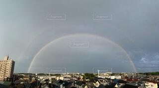 ダブルレインボー〜二重の虹の写真・画像素材[4872932]