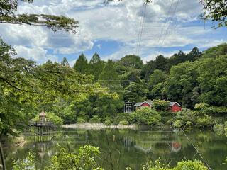 宮沢湖の写真・画像素材[4874607]