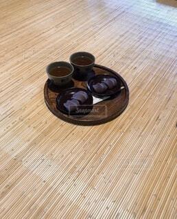 硬い木の床のクローズアップの写真・画像素材[4870078]