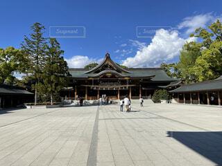 晴天下の神社の写真・画像素材[4875236]