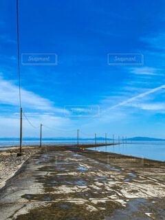 水上に架かる道の写真・画像素材[4873181]