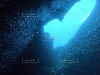 海のハートの写真・画像素材[4889249]