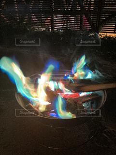 焚き火の写真・画像素材[4879335]