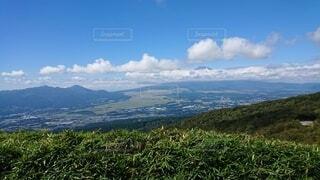 草の丘の眺めの写真・画像素材[4872431]