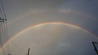 空の虹の写真・画像素材[4872497]