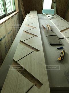 大工の手仕事 階段の写真・画像素材[4872532]
