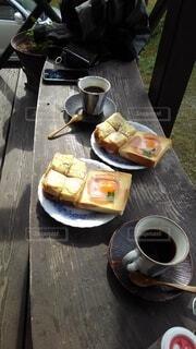 2人モーニングパンの写真・画像素材[4876295]