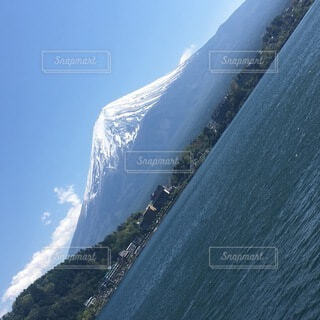 富士山と河口湖の写真・画像素材[4873366]