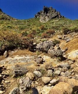 山を登るの写真・画像素材[4873531]