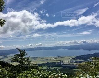 百名山 登山道からの眺めの写真・画像素材[4873571]