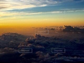 空 富士山登山道からの眺めの写真・画像素材[4873728]