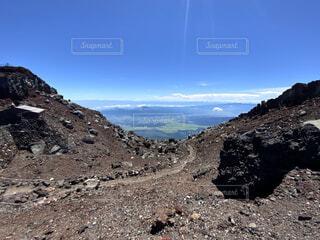 富士山 山頂登山道の写真・画像素材[4873734]