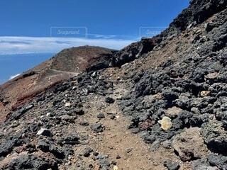 富士山頂登山道の写真・画像素材[4875738]