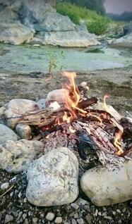 焚き火の写真・画像素材[4875759]