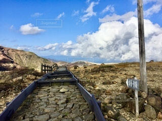 百名山 蔵王山の道の写真・画像素材[4899192]