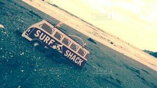 砂浜ドライブの写真・画像素材[4873311]