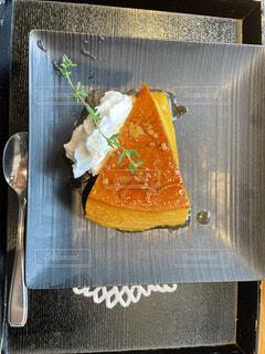 かぼちゃプリンの季節の写真・画像素材[4873622]