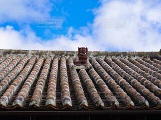 青空に映えるシーサーの写真・画像素材[4874155]
