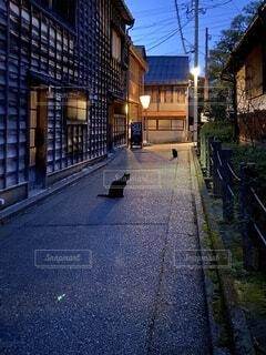 茶屋街と猫の写真・画像素材[4874677]
