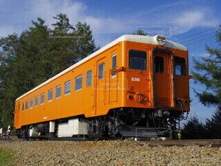 青空に映える電車の写真・画像素材[4874679]