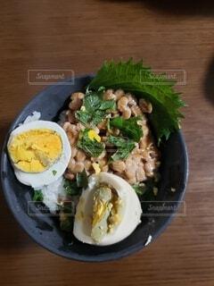 おでんの卵納豆の写真・画像素材[4879660]