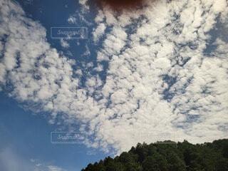 空の雲のクローズアップの写真・画像素材[4874161]