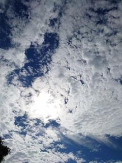 日差しと筋雲の写真・画像素材[4879798]