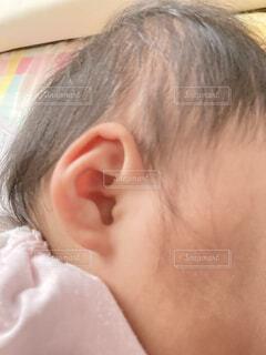 女の子赤ちゃんの耳の写真・画像素材[4875163]