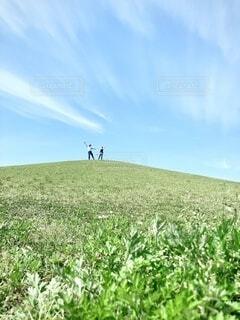 丘の上でポーズの写真・画像素材[4905952]