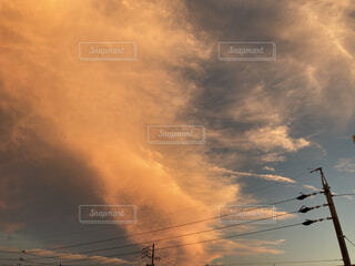 秋の夕暮れの写真・画像素材[4879866]