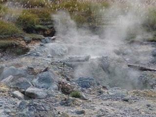 リアル湧き出る温泉の写真・画像素材[4888512]