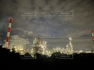 四日市 工場夜景の写真・画像素材[4876437]
