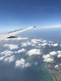 飛行機から見た景色の写真・画像素材[4903742]