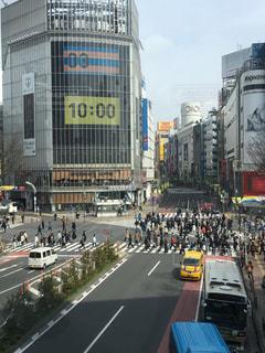 渋谷、午前10時の写真・画像素材[402048]
