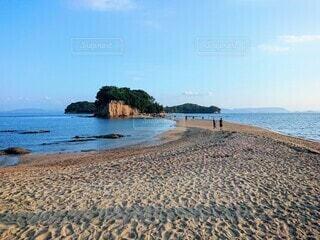 小豆島のエンジェルロードの写真・画像素材[4919977]