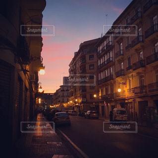 バレンシアの夜明けの写真・画像素材[1714941]