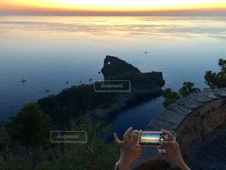 マヨルカの夕日の写真・画像素材[1715065]