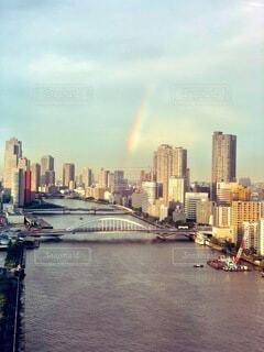 雨上がりの虹の写真・画像素材[4943243]