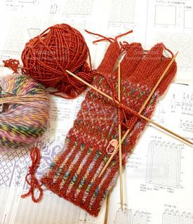 手編み手袋の写真・画像素材[814028]