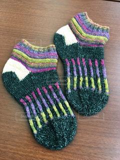 手編み靴下の写真・画像素材[814060]