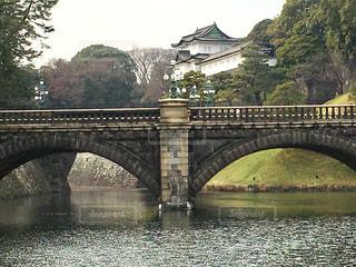 皇居二重橋の写真・画像素材[1043400]