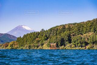 富士山と箱根芦ノ湖の写真・画像素材[493098]