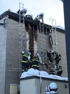 火災現場の写真・画像素材[3844030]