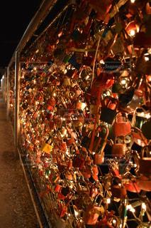 橋にかける鍵の写真・画像素材[1618343]